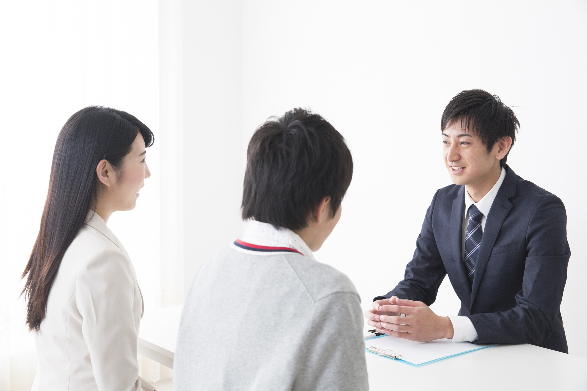 男性教師との三者面談
