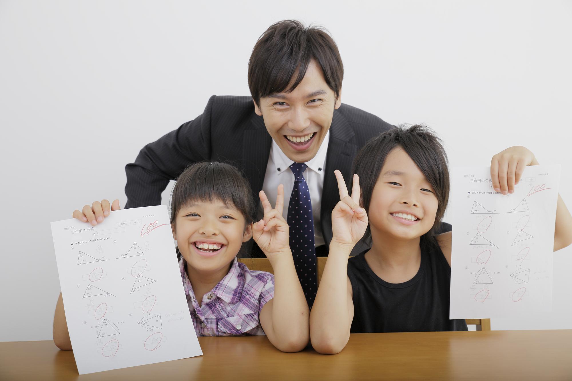 塾の先生と2人の生徒